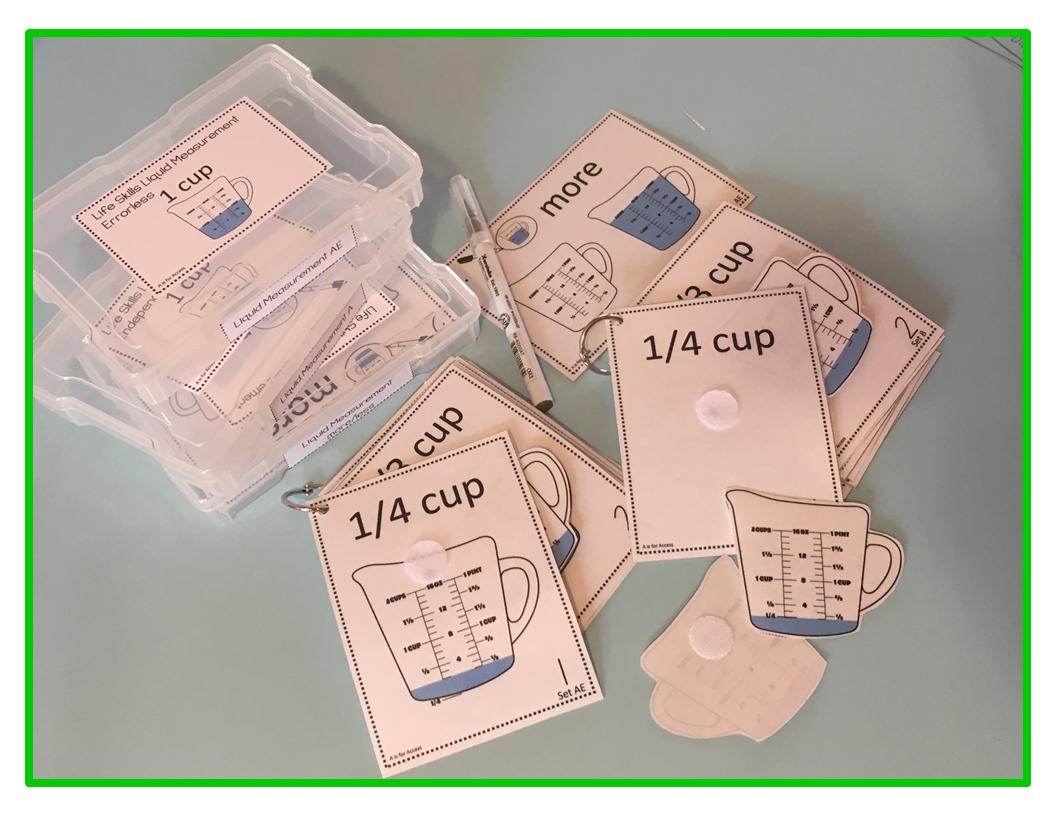 Liquid Measurement Task Box Activity