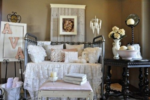 love the colors of the crib bedding. But instead of girly textures id do cable knit, chenielle, courderoy & waffle textures