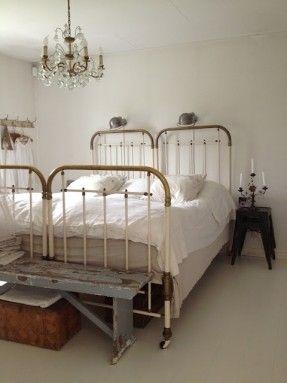 iron headboard two twin beds