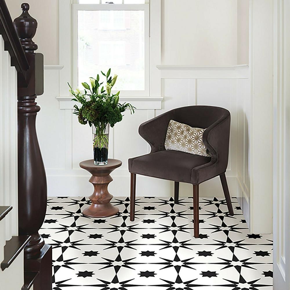 Vinyl Floor Tiles 10 Pack Flooring Luxury Peel N Stick
