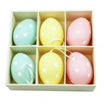 Pin by mollie fred on chocolate is so last year easter gifts create a pretty easter tree with this beautiful set of polka dot eggs a contemporary easter decoration negle Gallery