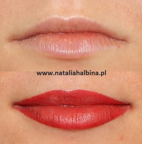 Makijaż Permanentny Ust Kontur Z Wypełnieniem Makijaż