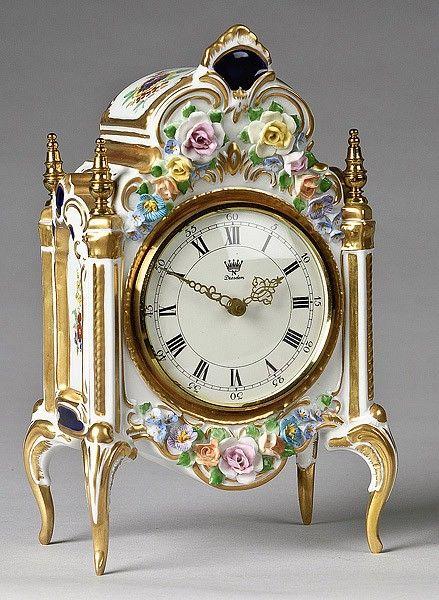 17 dresden porcelain shelf clock on relojes de mesa - Relojes decorativos de mesa ...