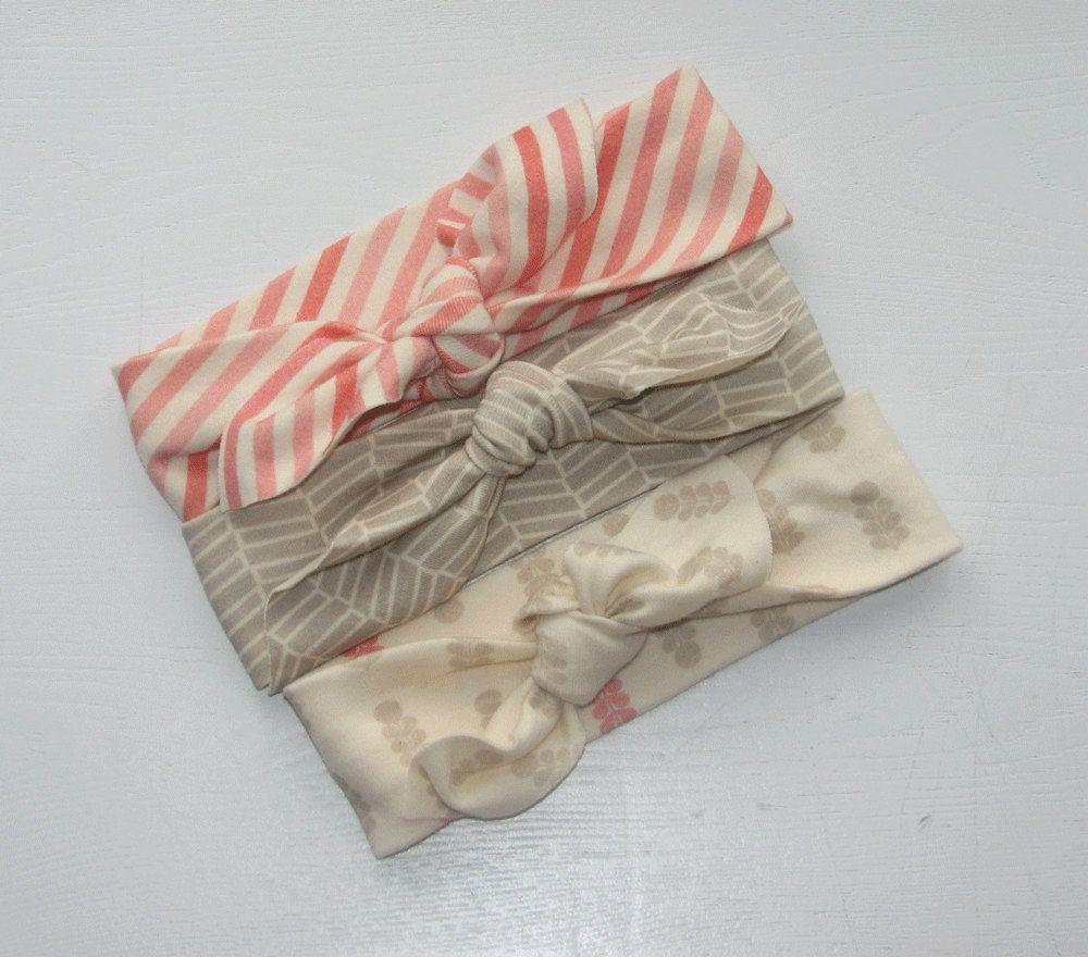 Organic. Baby Girl Headband Set. Modern by mainegirlcreations, $31.00