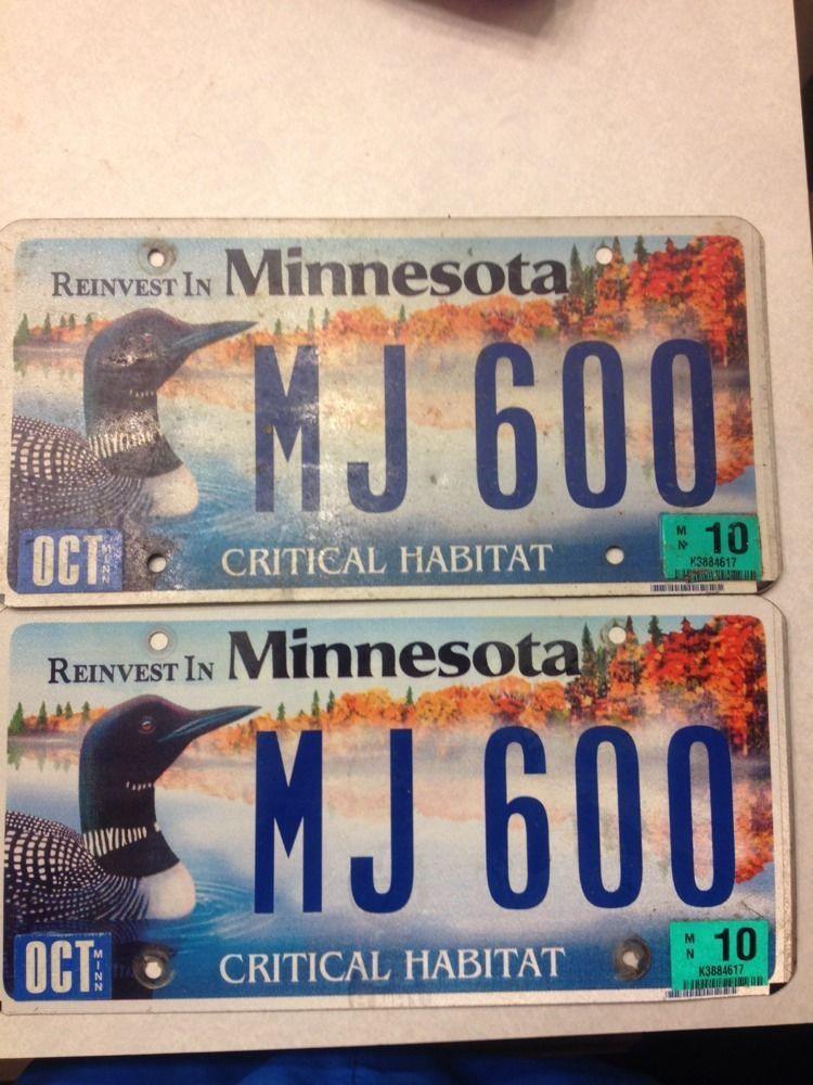 Critical Habitat Loon License Plates