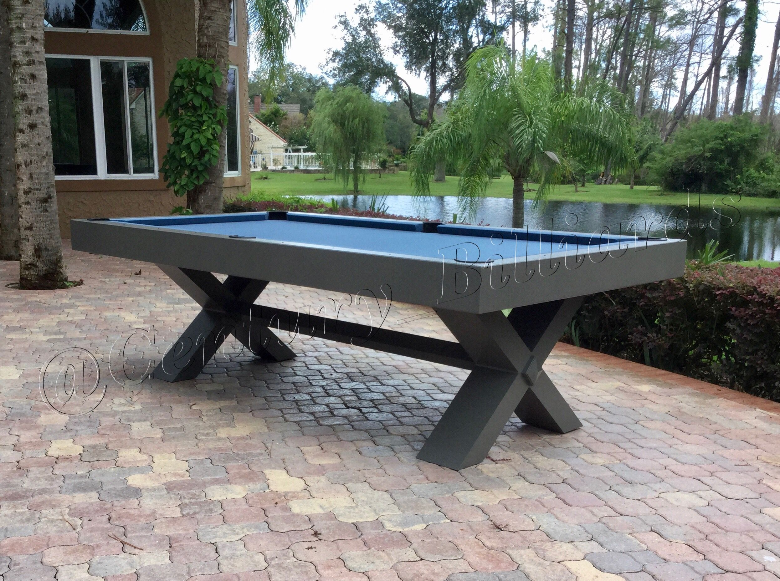 Outdoor Pool Tables Century Billiards New York Outdoor Pool Table Outdoor Pool Pool Table Modern outdoor pool table
