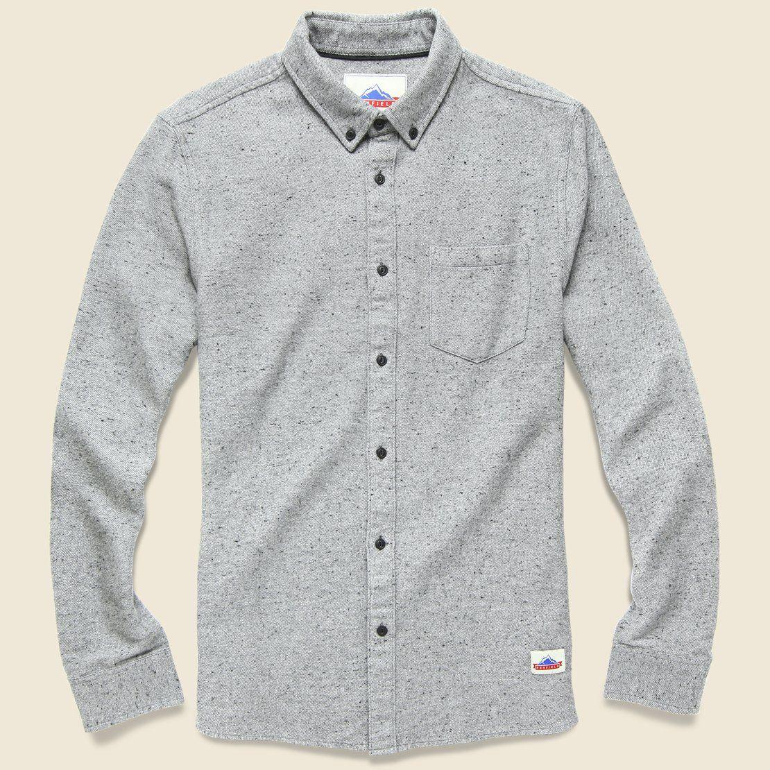 Flannel formal dress  Ridgely Fleck Flannel  Grey