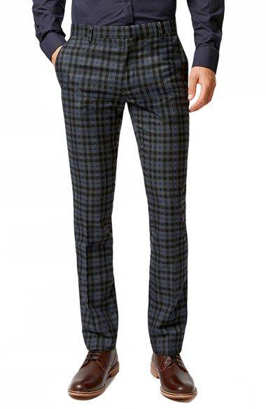 0198d01f14 Topman Skinny Fit Gingham Check Suit Trousers | Gentlemen in 2019 ...