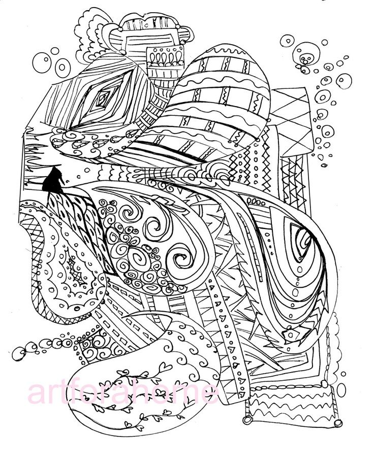 Abstract Art Nouveau Coloring Page Abstract Art Printable Coloring