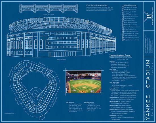 Yankee stadium blueprints via muralsyourway would love to yankee stadium blueprints via muralsyourway would love to have this in my malvernweather Image collections