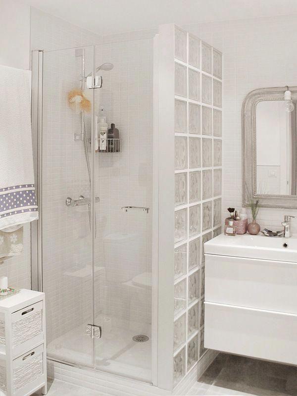 Pared ducha con cristal de paves #bañospequeños | Decorar ...