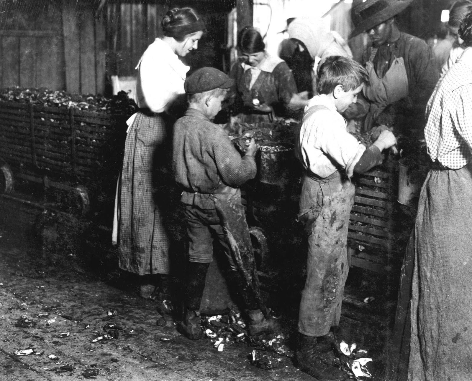 How did child labor first develop and how did it worsen as the years past.?