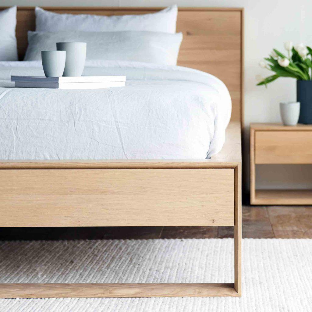 Oak Bed Frame Nordic Bed Australia Size in 2020 Oak