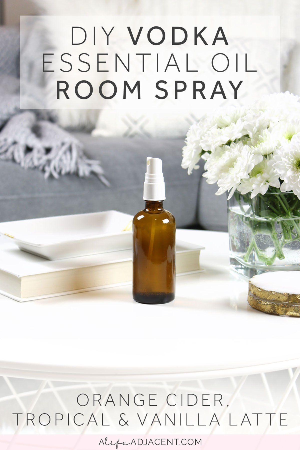 DIY Vodka Room Spray With Essential Oils (Vanilla Latte