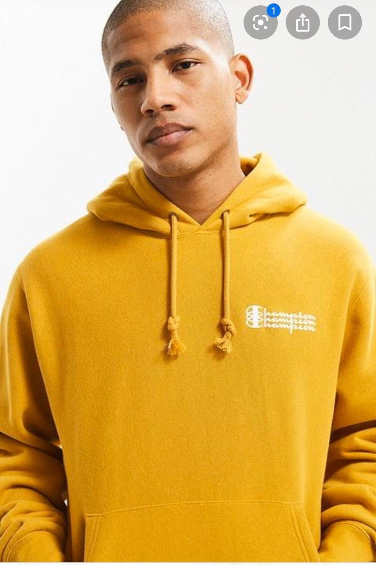 Yellow Urban Outfitters Champion Hoodie Sweatshirts Hoodie Hoodies Sweatshirts [ 1801 x 1200 Pixel ]