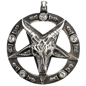 Pentagram & Moons pewter necklace 15% Off Coupon Code: 15PINOFF