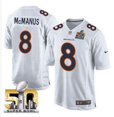 2016 Denver Broncos 8 Mcmanu White youth jerseys