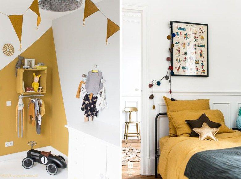 jaune moutarde deco chambre d 39 enfant chambre pinterest moutarde deco chambre et jaune. Black Bedroom Furniture Sets. Home Design Ideas
