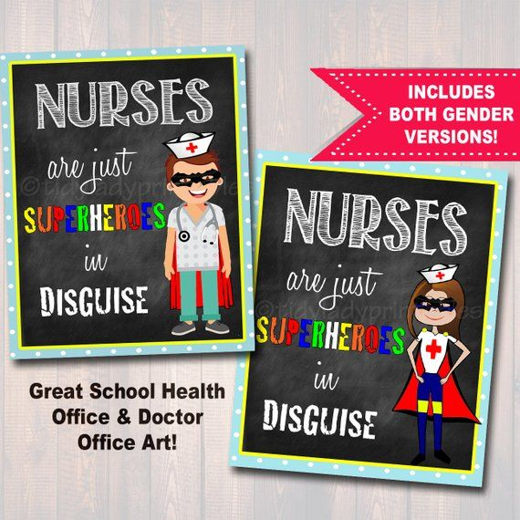 School Nurse Decor, Pediatric Nurse Decor, Nursing Sign INSTANT DOWNLOAD, Nurse Wall Art, Doctor Office Decor, Superhero Nurse Decoration #doctoroffice