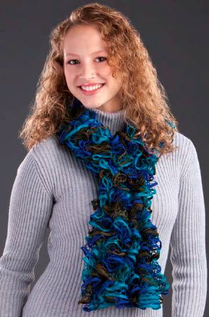 Premier Starbella Ruffled Options Scarf Knit Pattern Moore