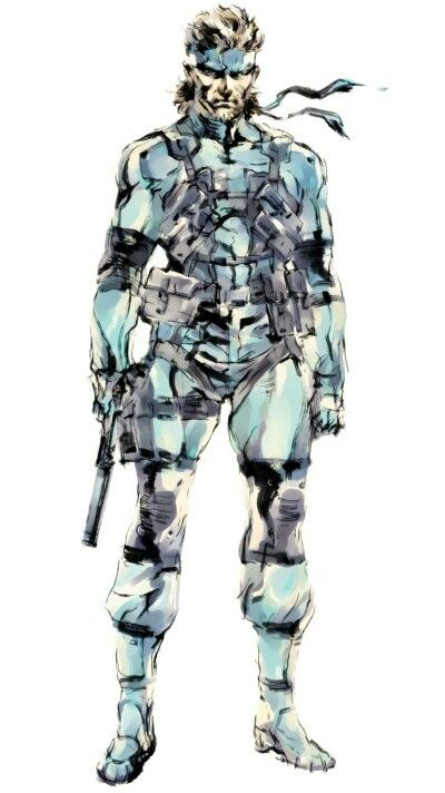Solid Snake Mgs2 Concept Art Metal Gear Snake Metal