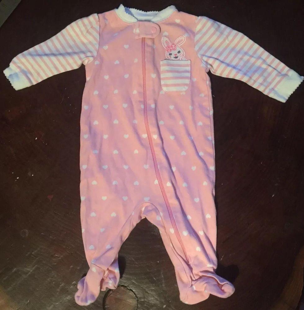 2011244c3 Details about Baby Girl Cloths Size 0-3 Months Garanimals Rabbit ...