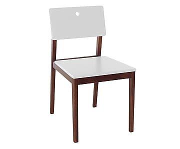 Cadeira Flip - Cacau e Branco