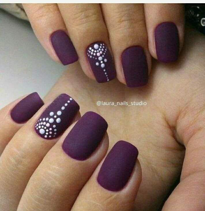 50 Stunning and Eye Catching Matte Nail Art Design Ideas for This ...