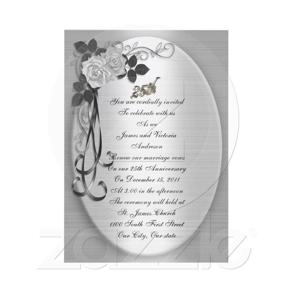 25th Anniversary Vow Renewal Card