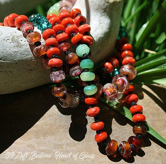 Chili Mango Lampwork Necklace Ooak Art Glass Heirloom 99 Luft