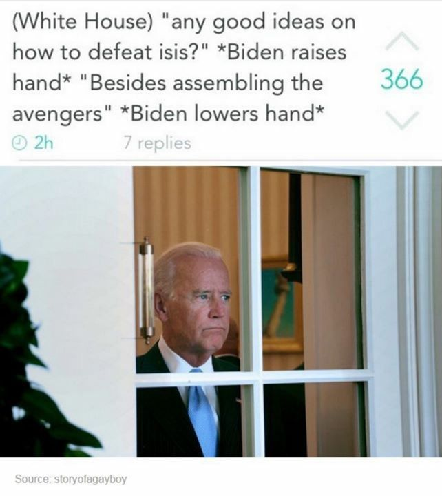 Pin By No Thx On Lol Joe Biden Memes Funny Pictures Joe And Obama