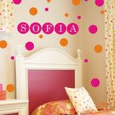 Found it at Wayfair - Personalized Dots Wall Decal