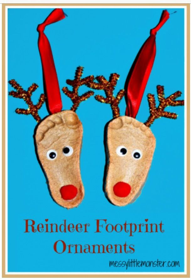 Pin by priscilla harrell on tis the season pinterest craft here are some adorable reindeer footprints ornaments that you can easily make yourself using a homemade recipe solutioingenieria Gallery