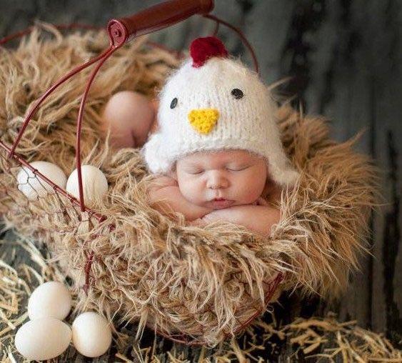 Recién nacido 0 3 meses infantil del bebé del ganchillo algodón calidad del hilo de pollo lindo traje tapa de accesorios de fotografía recem nascido foto nuevo 2015 en Sombreros y Gorras de Bebés en AliExpress.com | Alibaba Group