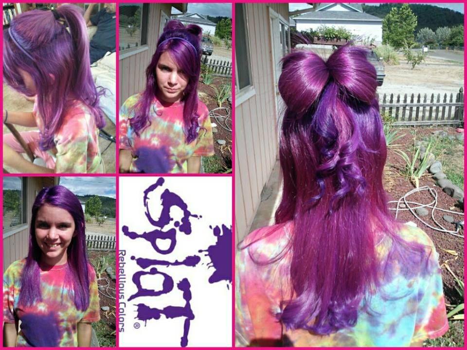 Splat Lusty Lavender Purple hair, Hair styles, Hair bows