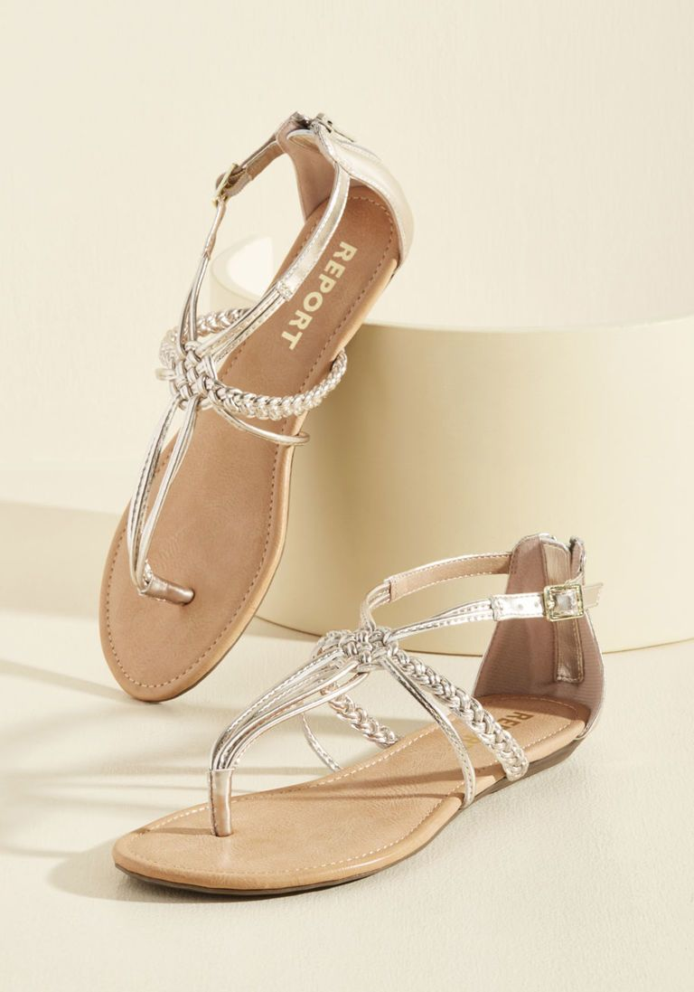 b2b35ae4ab0a6 Knotty or Nice T-Strap Sandal in Champagne in 2019