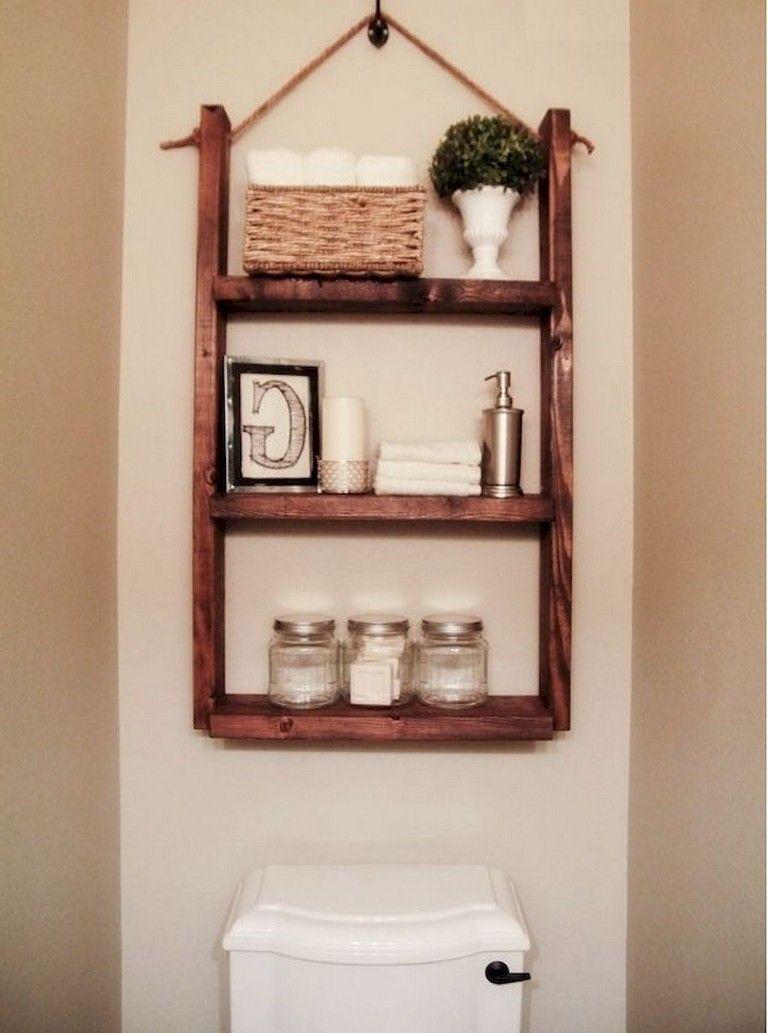 65 Beautiful Bathroom Storage Shelves Organization Ideas Small Bathroom Diy Hanging Bathroom Shelves Diy Bathroom