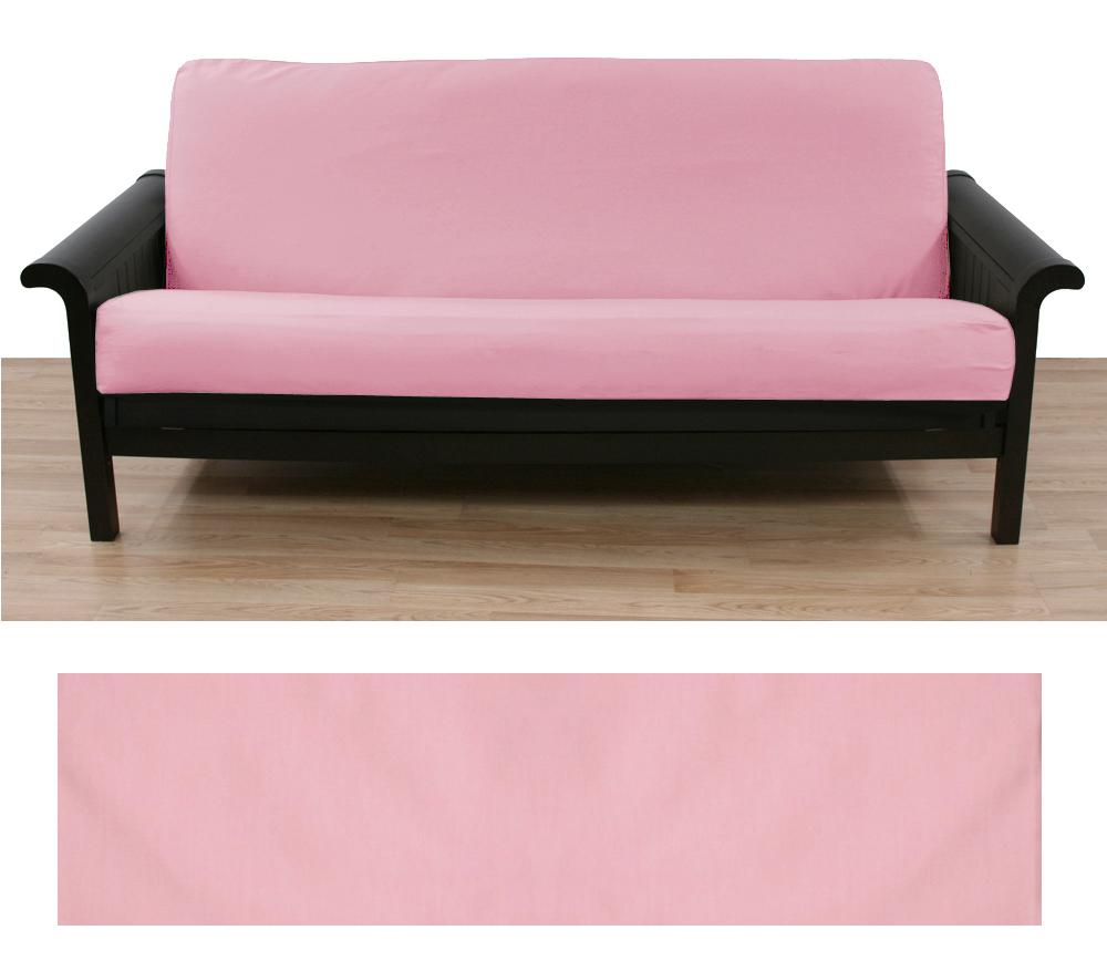 Solid Light Pink Futon Cover 415 Futon Covers Futon Light Pink