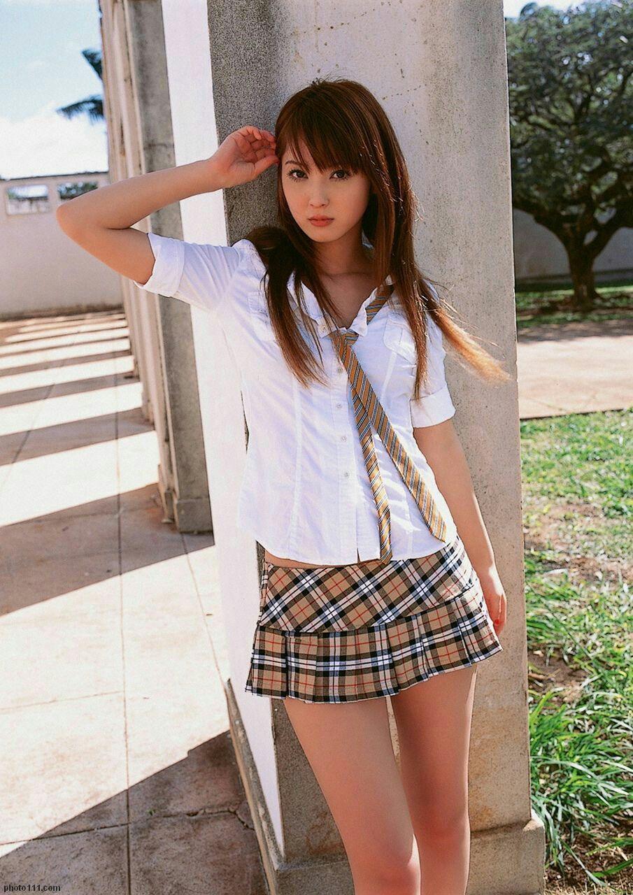Asian teen girls skirt really