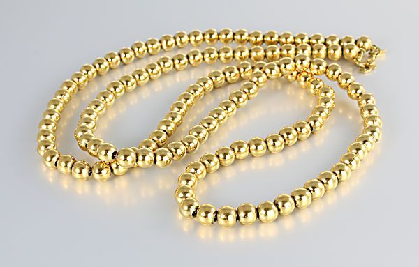 Vintage Monet Gold bead Necklace 30 inch long RMSjewels Vintage