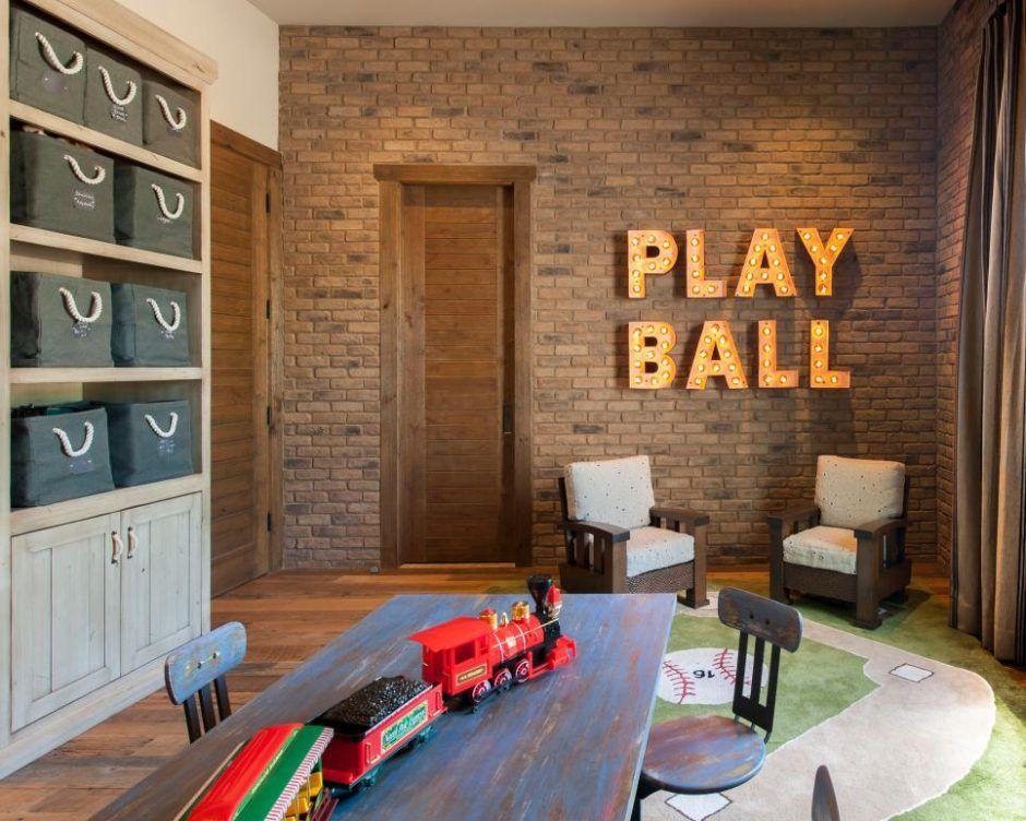 Play Room For Baseball Interest Childrens Bedrooms Design