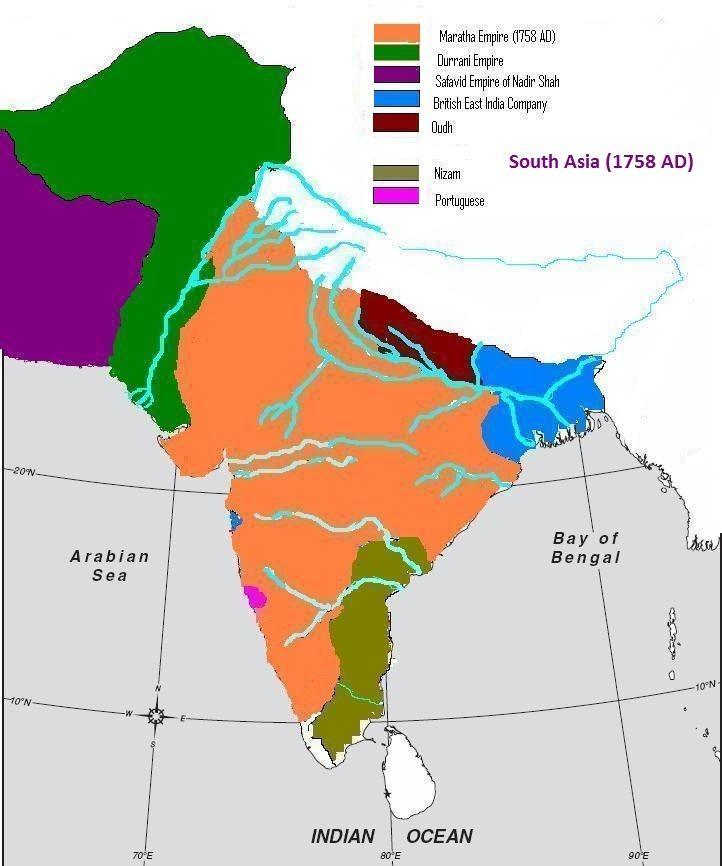Image result for maratha empire 1758