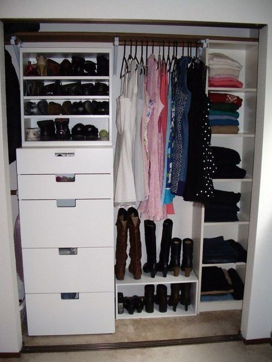 34 beautiful dream closet makeover with images on extraordinary small walk in closet ideas makeovers id=33826