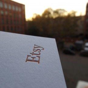 Etsy Hangtags Mit Letterpress Druck Gedruckt By
