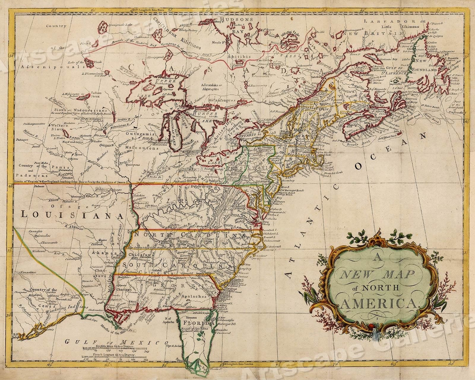 Old North America Map.9 31 1760s A Map Of North America Vintage Style American Map