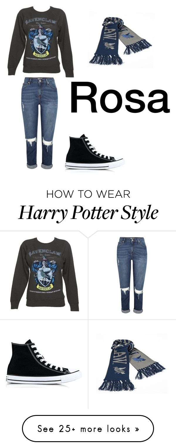 """My Ravenclaw bestie"" by babbels on Polyvore featuring Converse"