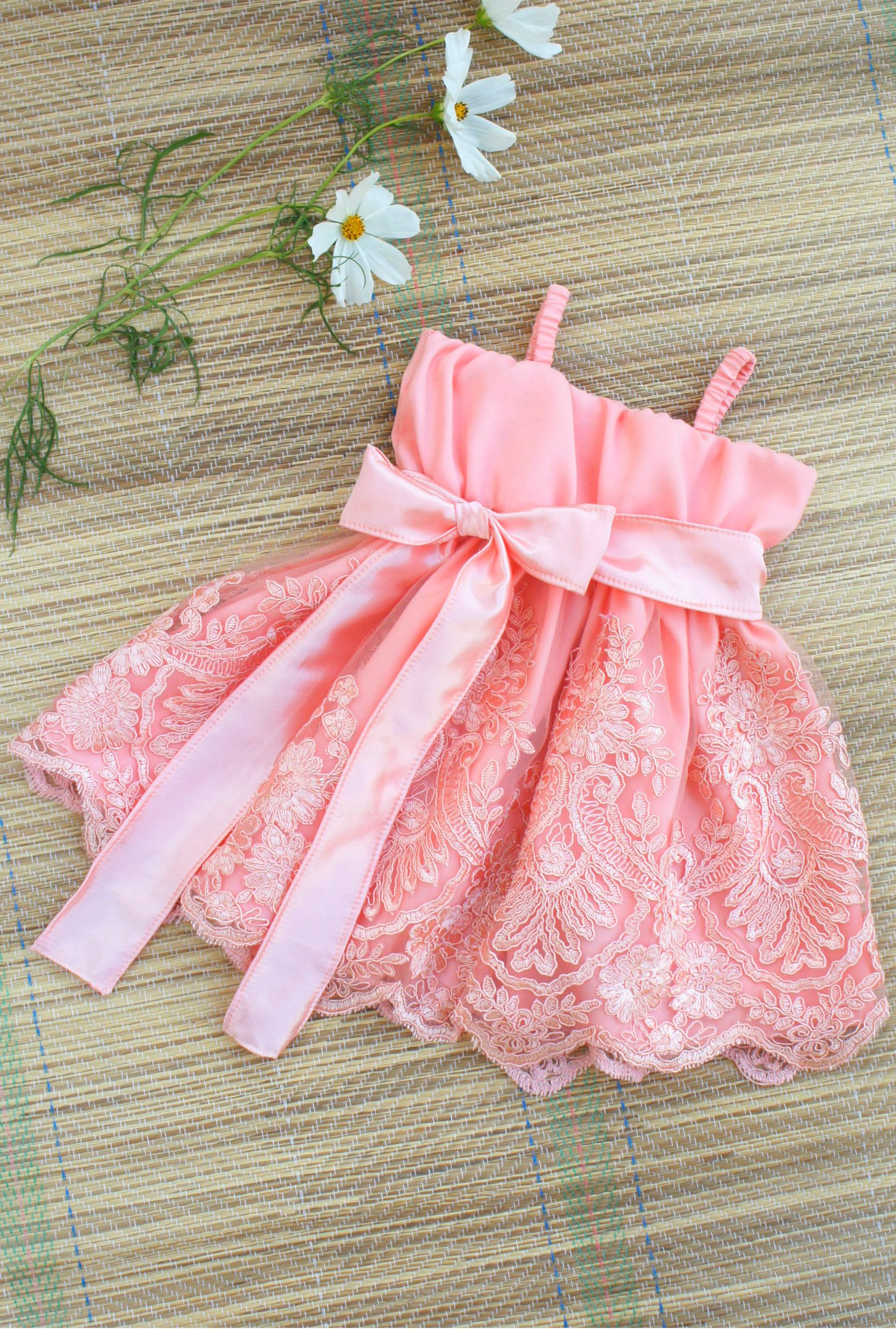 Lace dress for baby girl  Boho flower girl dress  Baby flower girl dress Baby lace dress
