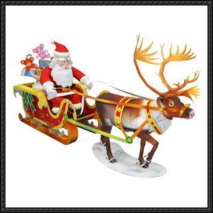 Canon Papercraft Santa Claus Paper Set Free Template Download