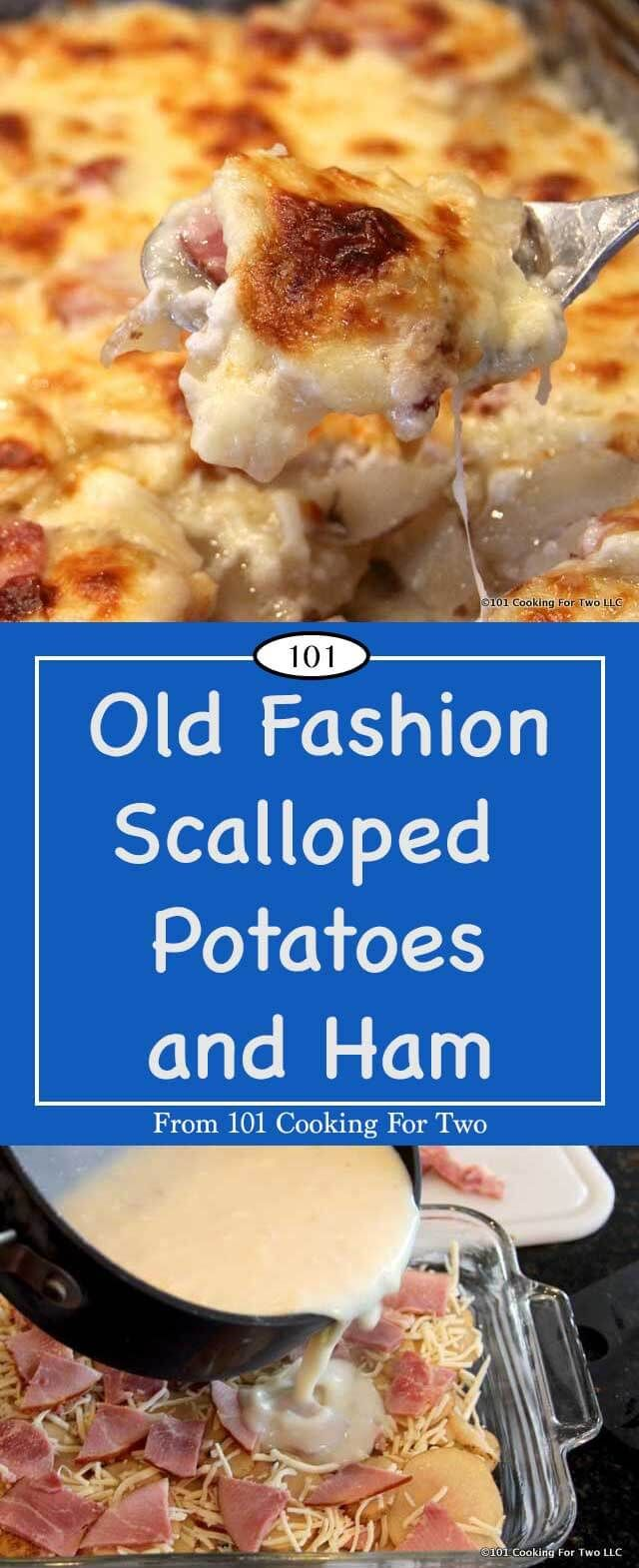 Old fashioned scalloped potatoes and ham 78
