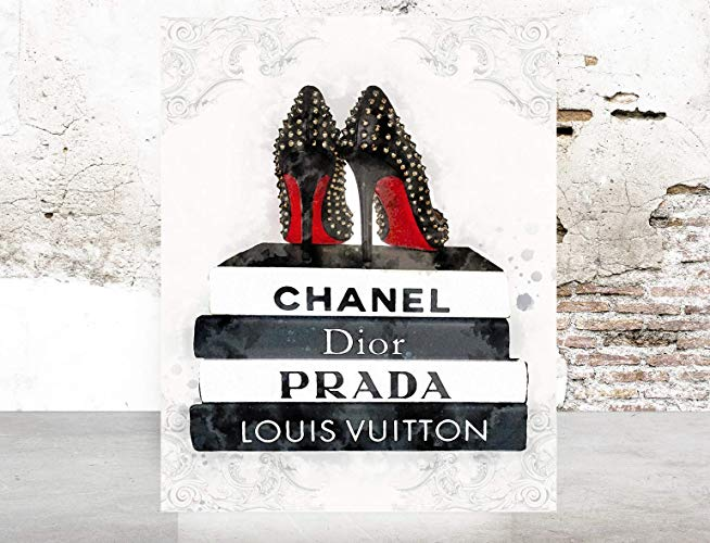 Amazon Com Fashion Wall Pop Art Print Illustration Fashion Books Shoes Chic Glam Vogue Poster On Fine Art Paper 1 Glam Wall Art Pop Art Print Art Prints